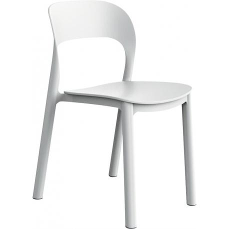 Image of   Plaststol Ona - hvid/hvid