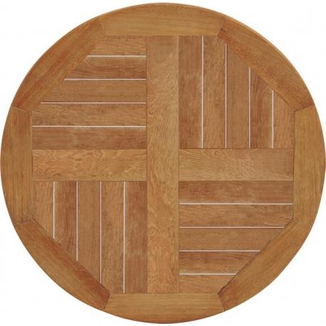 Image of Teak bordplade Ø60 cm