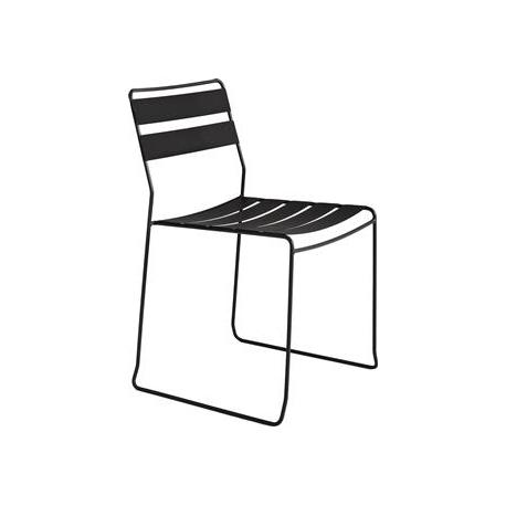Image of   Straw stål stol - sort