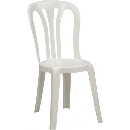 Image of   Caféstol økonomi plast - Hvid