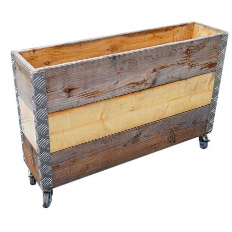 Image of   Pallekasse boks af genbrugstræ, 103x25x67cm